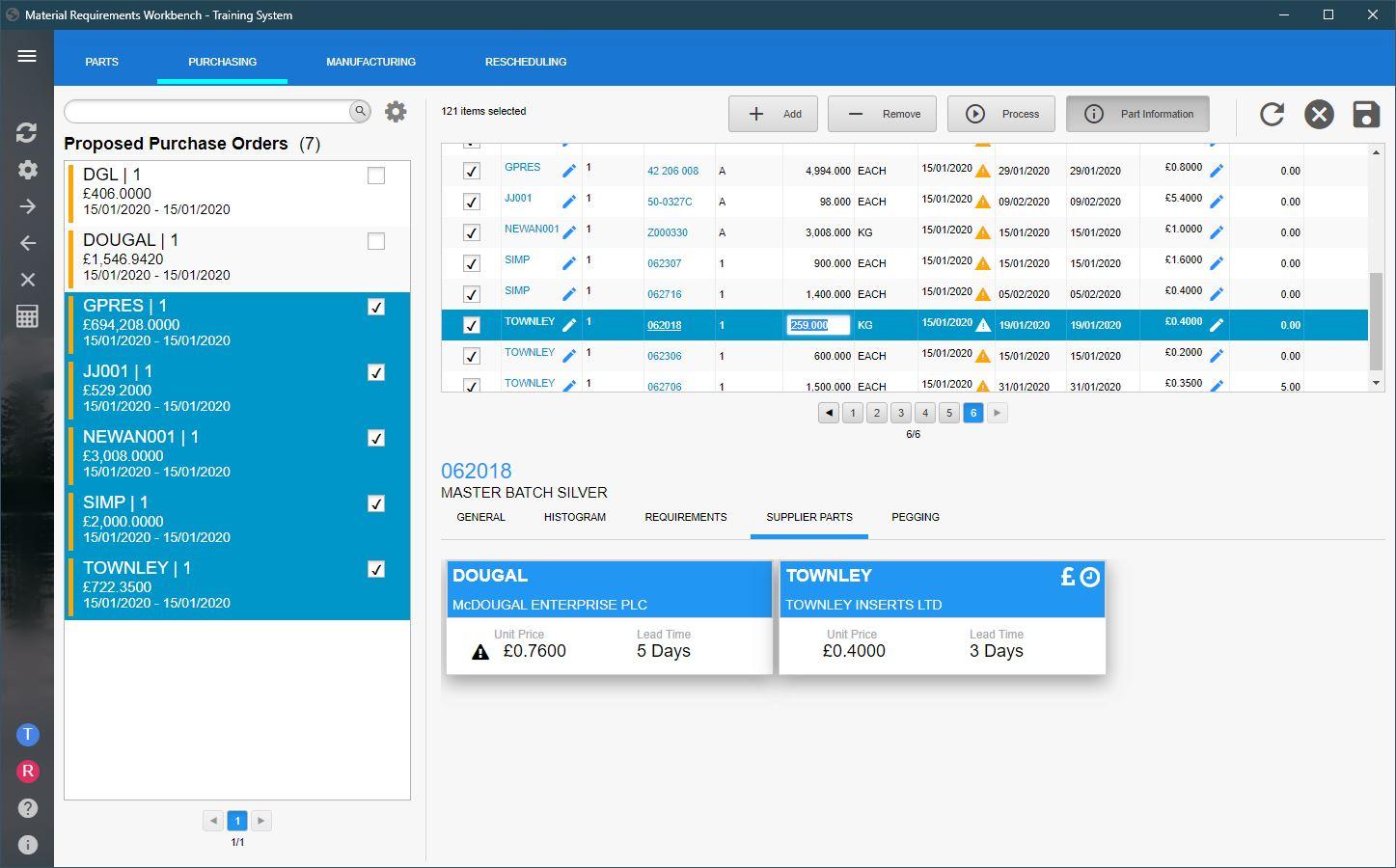 MRP Workbench screenshot